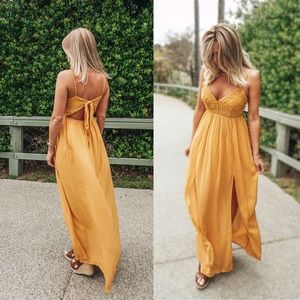 🌻 Isle Of Capri laced maxi dress